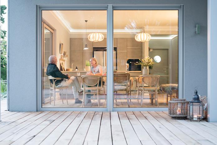 Ein Bungalow – wahlweise ergänzt um einen Keller – eignet sich besonders gut für das Wohnen im Alter. (Foto: FingerHaus)