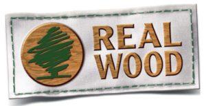 Das Real Wood-Logo sorgt für Klarheit.